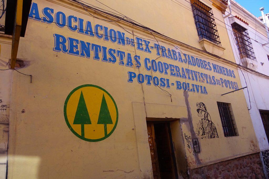 A miners' cooperative building in Potosi?, Bolivia
