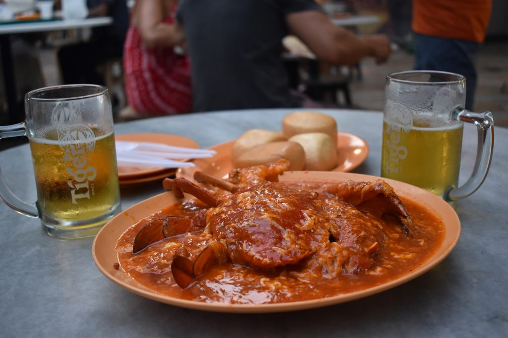 Lau Pa Sat, a hawker centre in the city centre, is one of the best hawker centres in Singapore