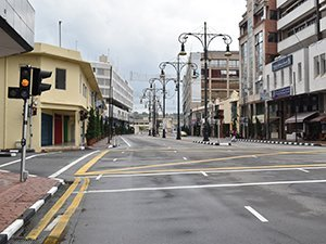 Bandar Seri Begawan deserted streets Friday