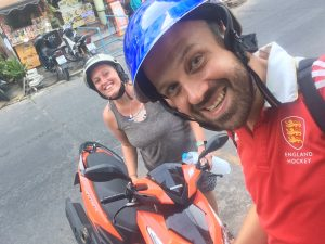 Alex Lisa moped Phuket Thailand