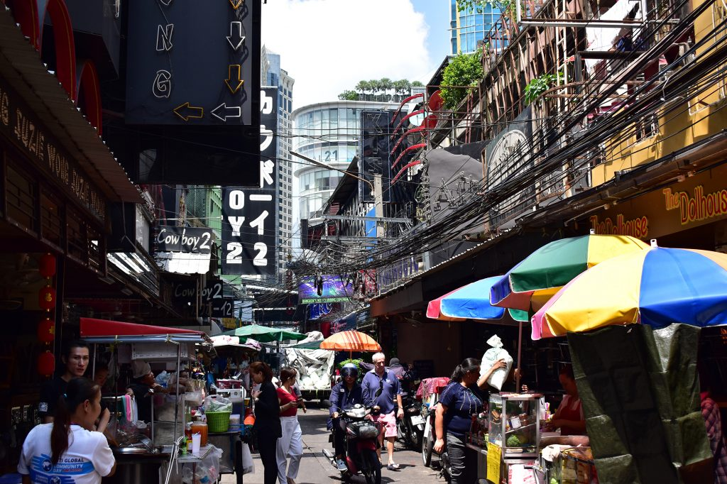 The famous Soi Cowboy in Sukhumvit, a filming location for The Hangover 2
