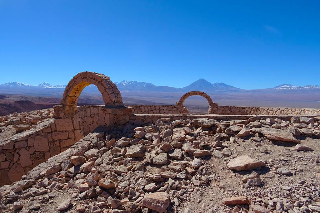 The ruins of the pre-Columbian stone fortress of Pukará de Quitor are a short walk from San Pedro de Atacama