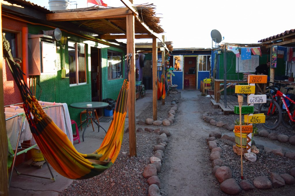 We stayed at San Pedro Backpackers, which had two large kitchens – great for cooking a group meal