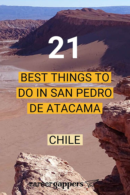 From exploring the glorious desert to seeing the best starry skies in the world, here are the best things to do in San Pedro de Atacama, Chile, in 2020. #sanpedrodeatacama #sanpedrochile #atacamadesert #atacama #chiletravel