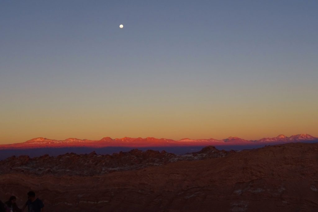 Visiting Valle de la Luna at sunset is one of the top things to do in San Pedro de Atacama