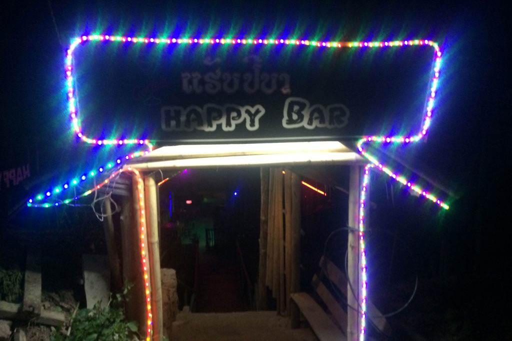 We went for a few drinks at Happy Bar on the overnight stay in Pakbeng
