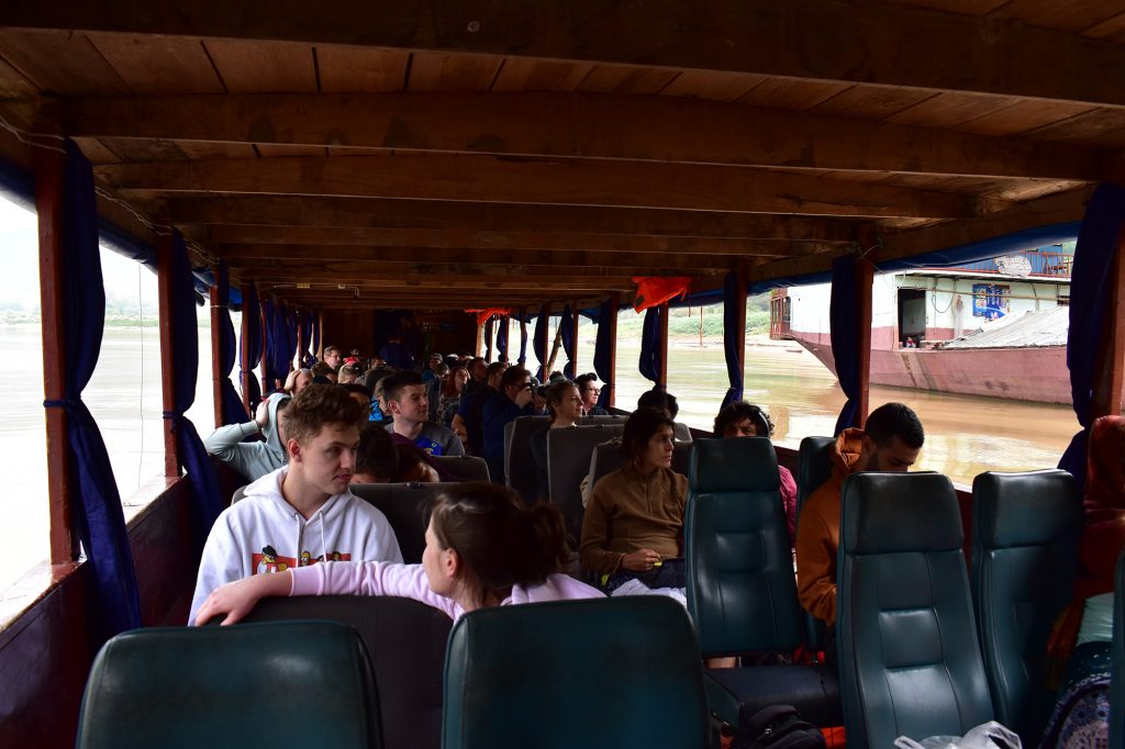 Inside the slow boat on the second leg of the journey
