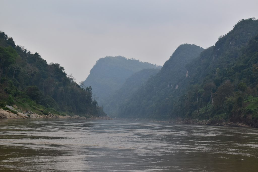 Beautiful Mekong scenery on the first leg of the slow boat from Huay Xai to Pakbeng