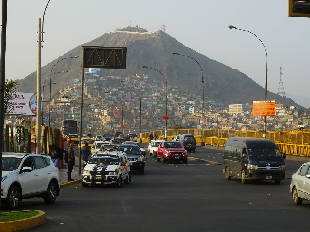 Cerro San Cristóbal is one of the most famous landmarks in Lima