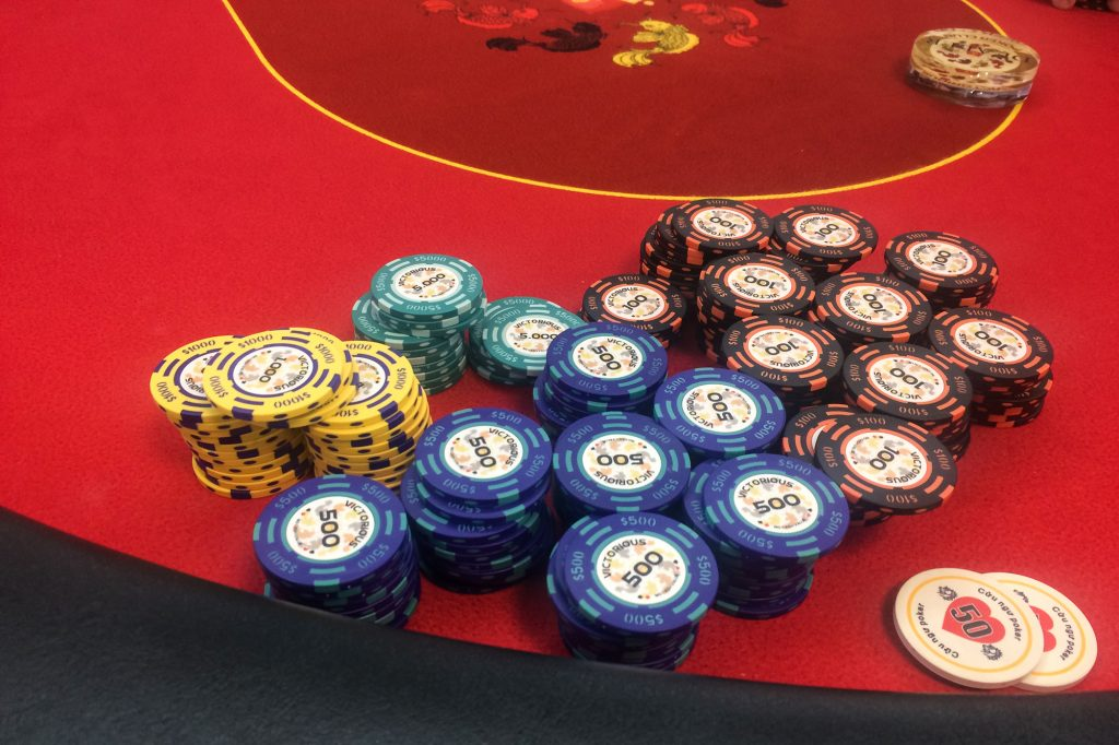 Poker in Vietnam: my chip stack holding up approaching the final table