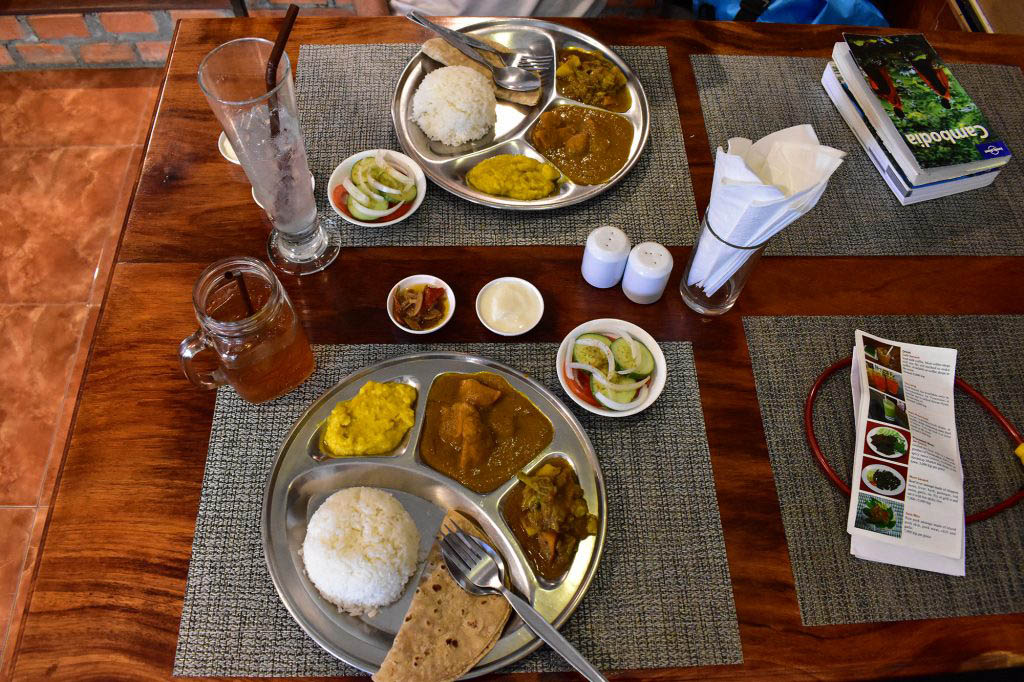Thali at Pilgrims Kitchen Savannakhet