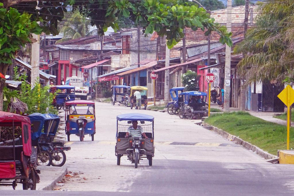 The colourful streets of Iquitos are filled with thousands of tuk-tuks