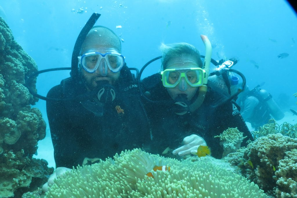 The cost to travel: scuba diving was one of our most expensive activities, accounting for over £1,500 of our spends