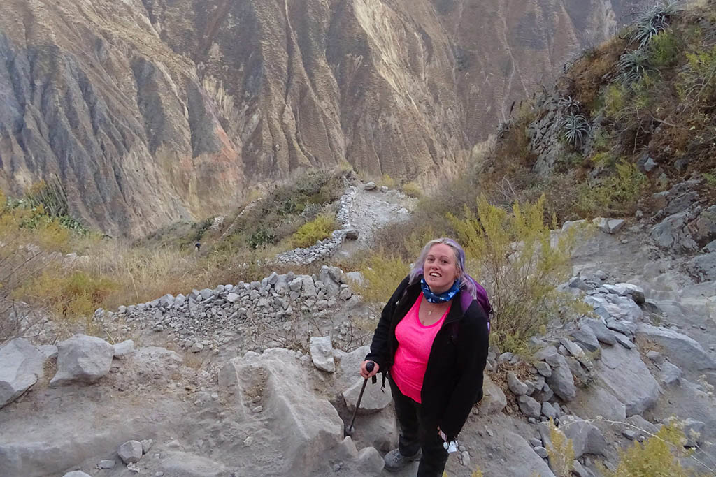 Colca Canyon trek ascent on final day