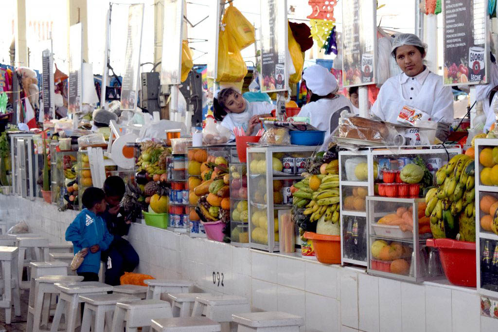 You can find a great deal for lunch or fresh produce at the lively stalls of San Pedro Market