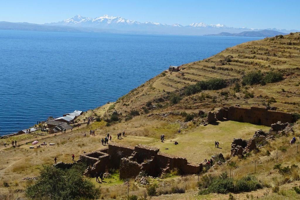 Lake Titicaca Bolivia: Inca ruins on Isla de la Luna
