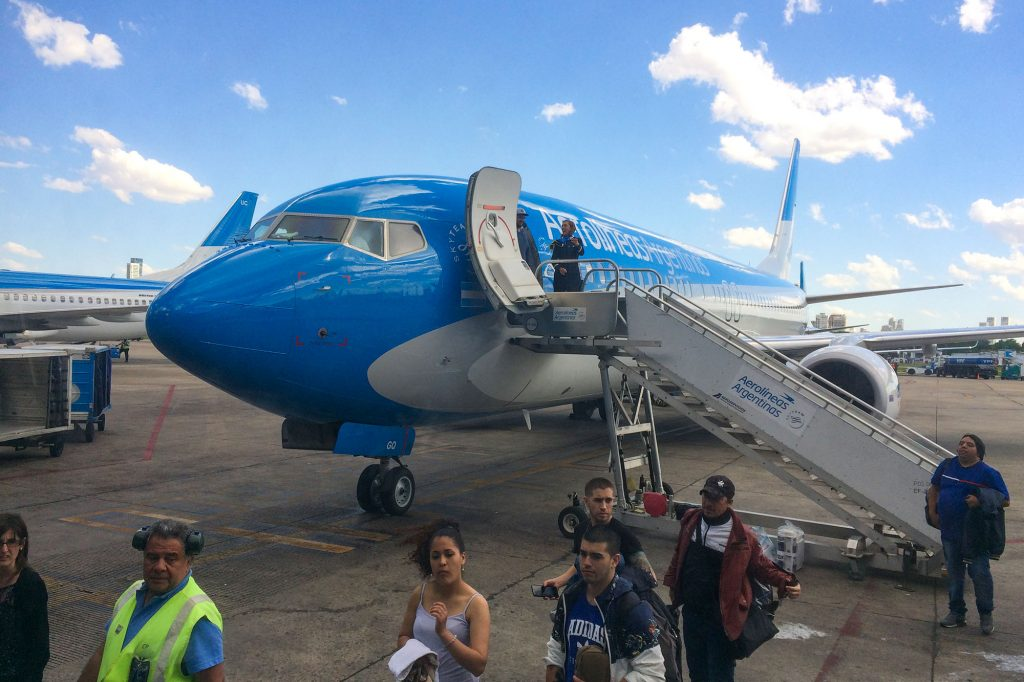 We flew from El Calafate to Buenos Aires with Aerolíneas Argentinas