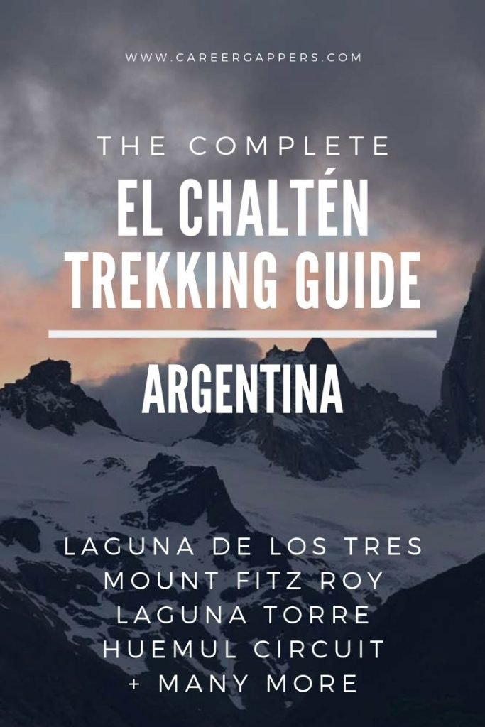 El Chaltén in Patagonia features some of Argentina's most iconic trekking. This guide explains how to hike to Laguna de los Tres, Mount Fitz Roy and more. #elchalten #elchaltenhikes #elchaltentrekking #mountfitzroy #patagoniahiking