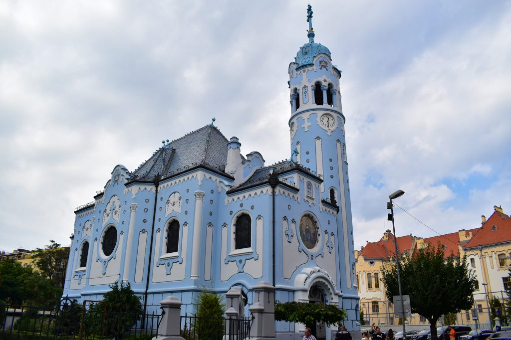 The Church of St Elizabeth, also known as the 'Blue Church', is one of the best examples of art nouveau in Bratislava