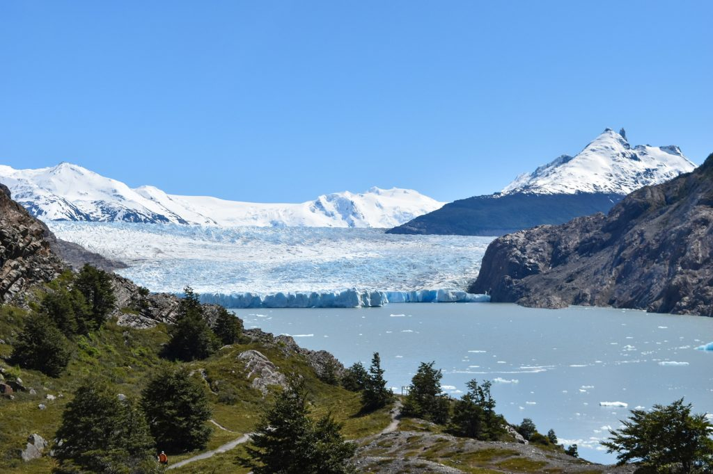Grey Glacier awaits at the end of the W Trek on the west side of Torres Del Paine
