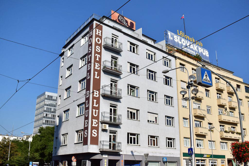 We stayed at Hostel Blues in Bratislava, an excellent hostel on the edge of the Old Town
