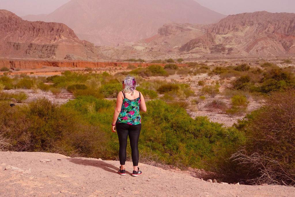 Taking in the scenery of Quebrada del Rio de las Conchas, Argentina