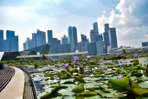 Singapore City financial district