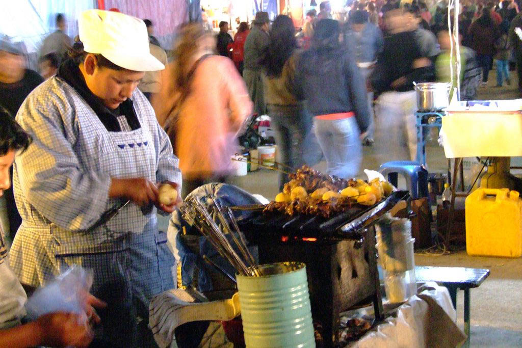 Street food La Paz Bolivia
