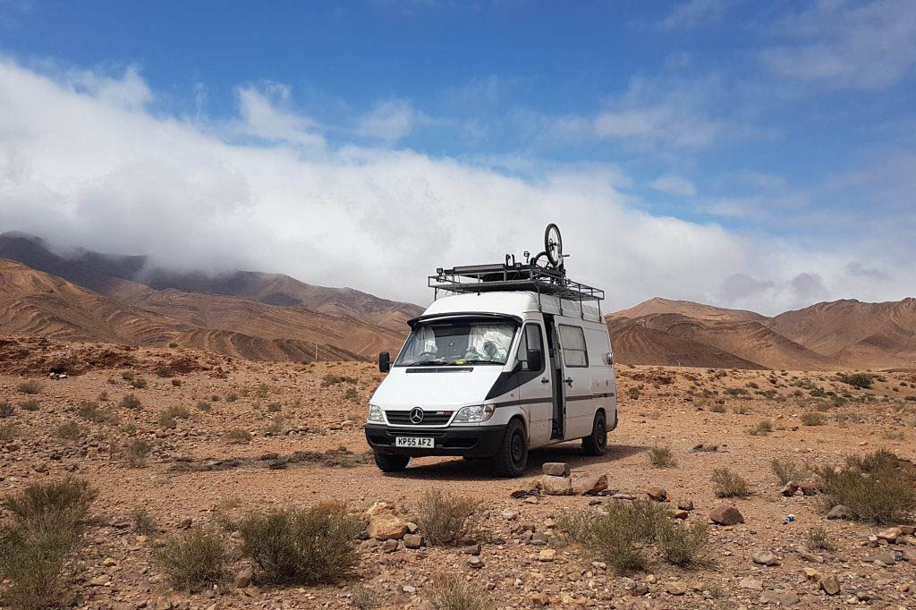 On our van life adventure in the Moroccan desert
