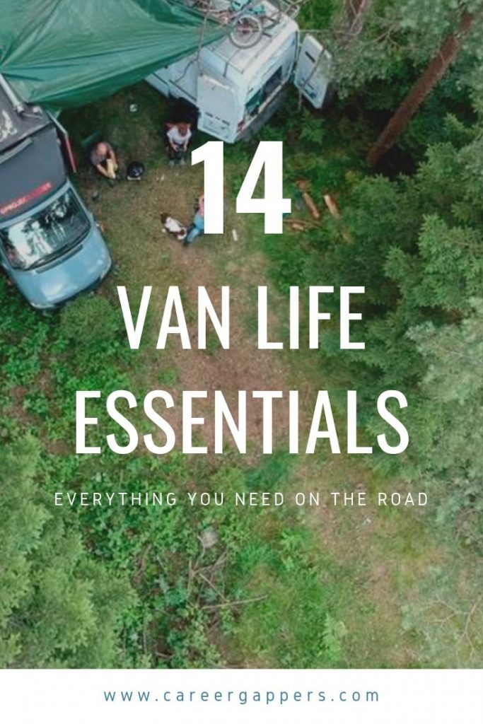 Before you set off on a van life adventure, this compilation of van life essentials explains everything you will need before you go. #vanlife #vanlifeessentials #vanstuff #lifeinavan #roadtrip