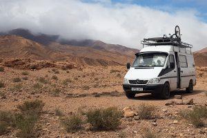 On our van life adventure in the Moroccan desert
