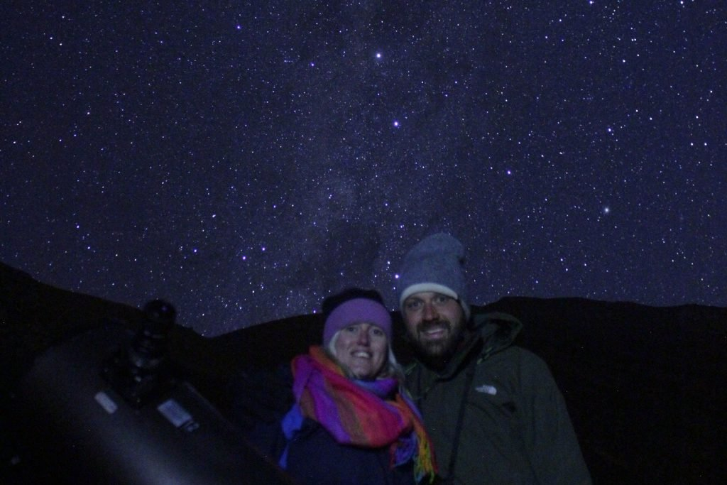 We took a stargazing tour in Pisco Elqui with Turismo Migrantes