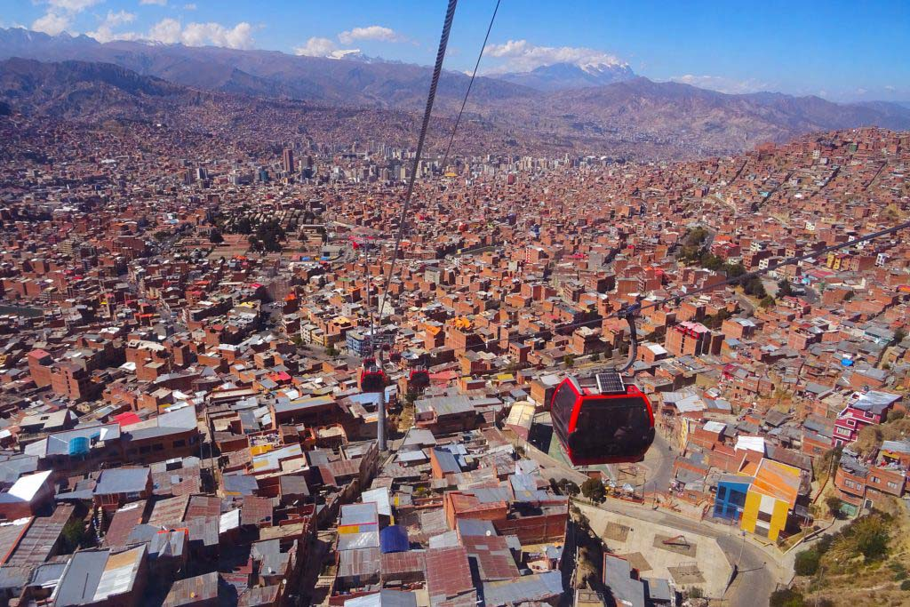 La Paz is the world's highest capital city at 3,640m above sea level