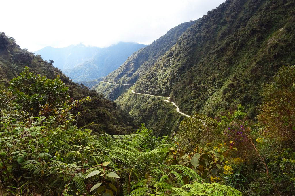 Mountain-biking down North Yungas Road is an adrenaline-fuelled day out from La Paz