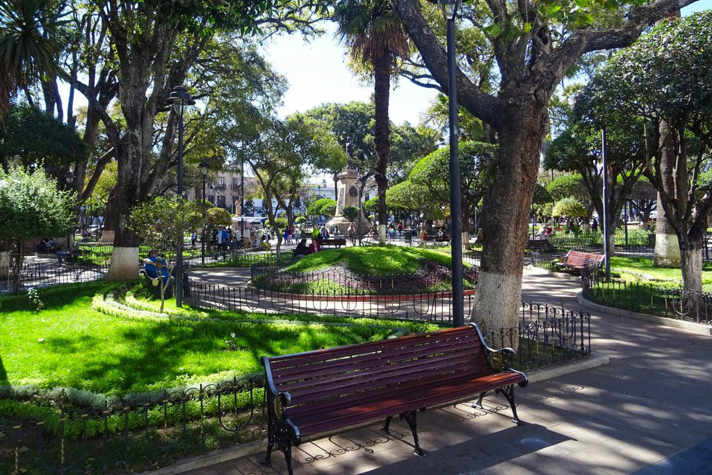 Plaza 25 de Mayo is the central hub of activity in Sucre