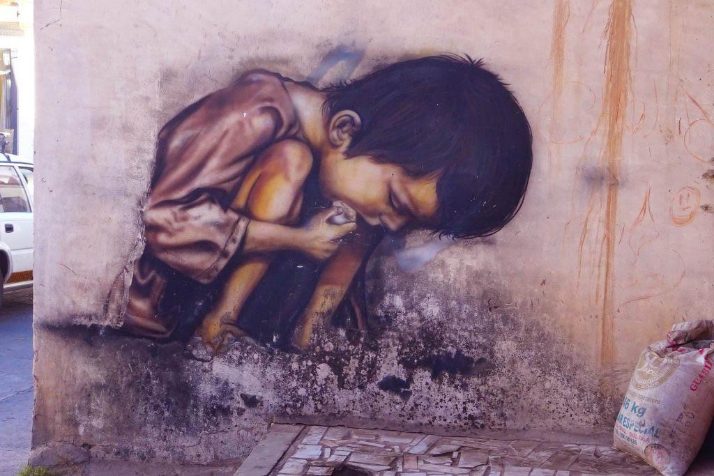 Street art murals can be found around the outer neighbourhoods of Sucre