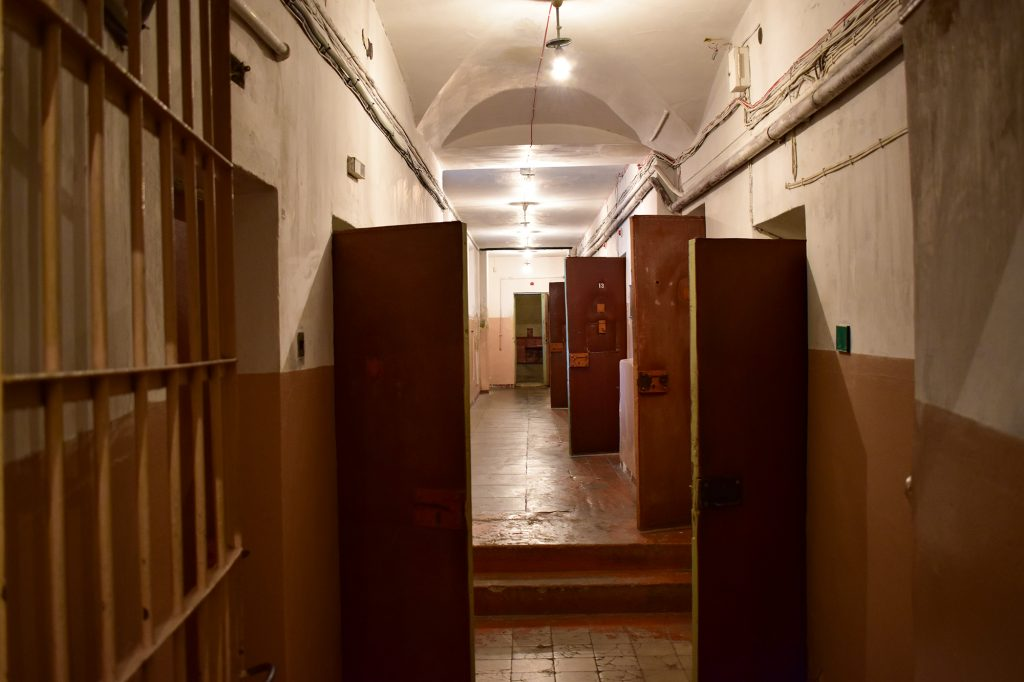 KGB prison cells in the basement of the Museum of Occupations and Freedom Fights