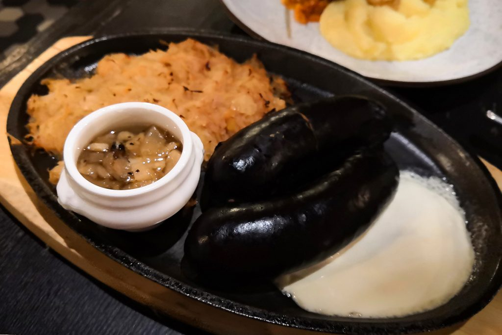 Black pudding sausages are a popular dish in Lithuania