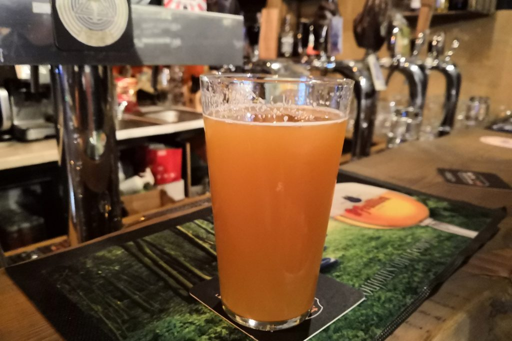 Nisha Craft Capital has a wide selection of Lithuanian craft beer on tap, like Mango Milkshake
