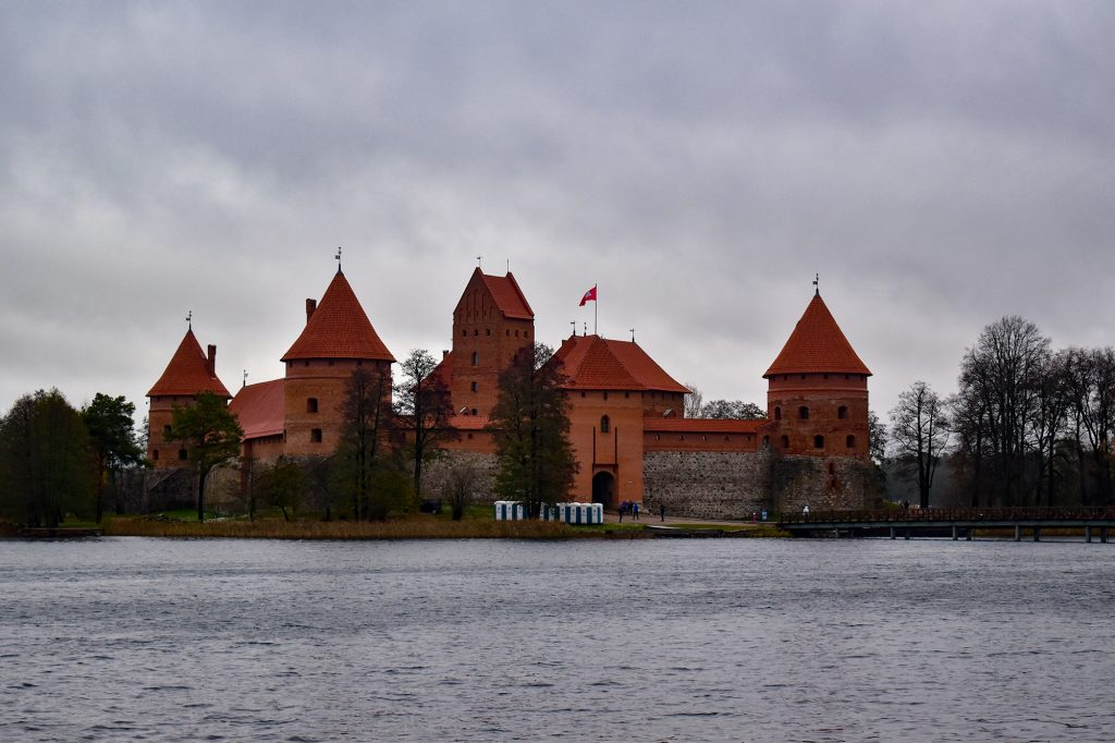Trakai Island Castle, built in the 15th century, can be reached in an hour from Vilnius
