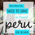 We travelled Peru for 28 days and kept a note of everything we spent. Take a look to help with your budget and planning when you visit this awesome country. #traveltips #travelmoney #budgeting #peru #southamericatravel #travelsouthamerica #travelbudget