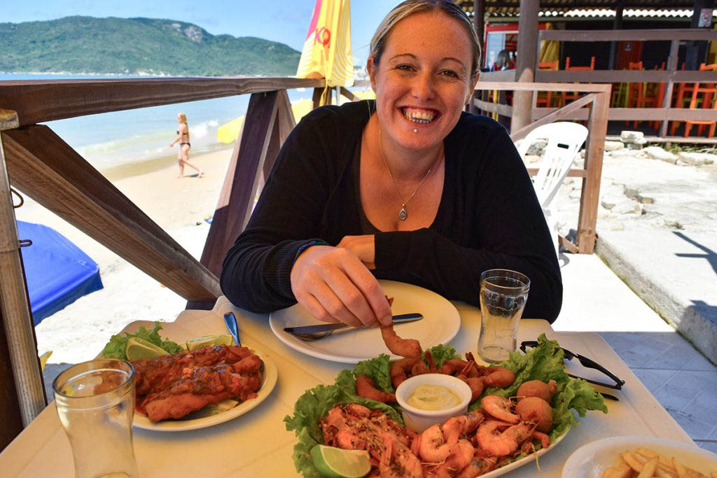 We took advantage of the lunchtime discounts to indulge in a seafood platter on Praia dos Ingleses