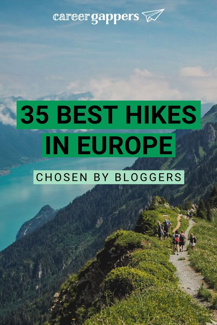 Travel bloggers select the best hikes in Europe, from towering peaks and glaciers to secluded pools and famous coastal routes. #europehikes #hiking #hikingeurope #hikes #trekking