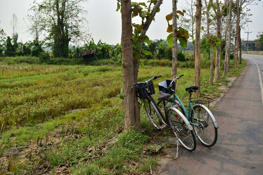 Hiring a bicycle is a great alternative way to visit the attractions around Vang Vieng