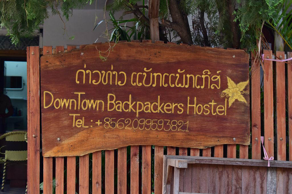 We stayed at Downtown Backpackers hostel during our 3 days in Luang Prabang
