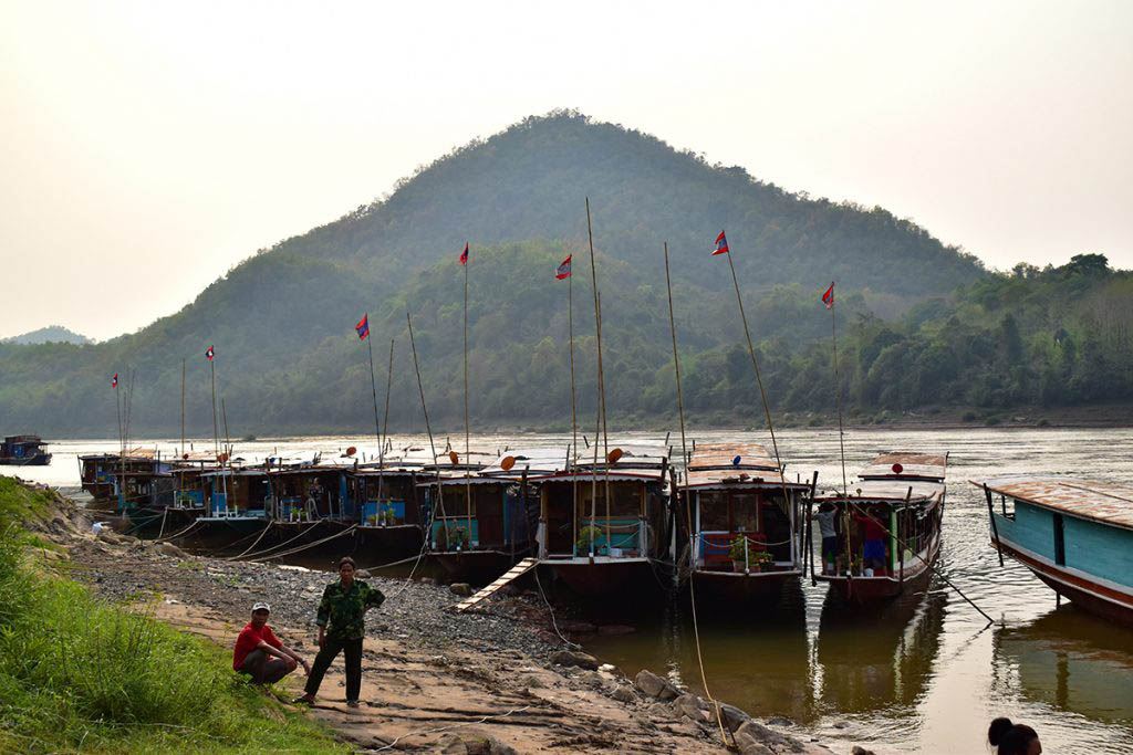 Taking a boat tour on the Mekong river is one of the top things to do in Luang Prabang