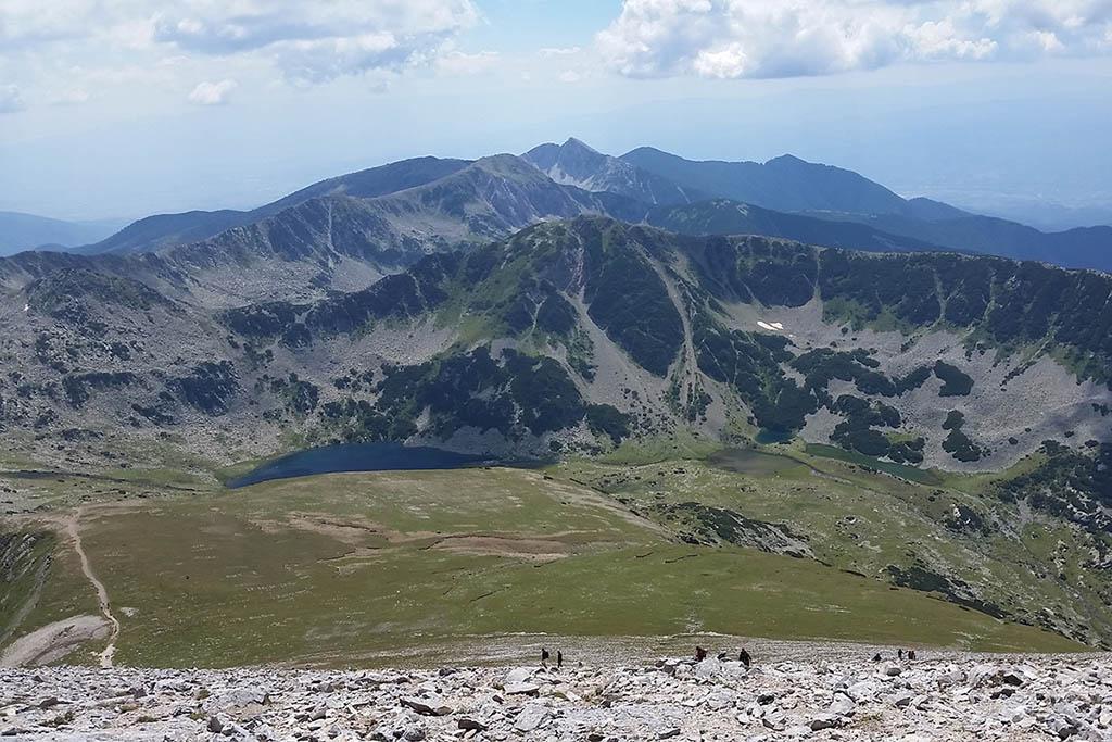 Pirin-Vihren peak trail Bulgaria