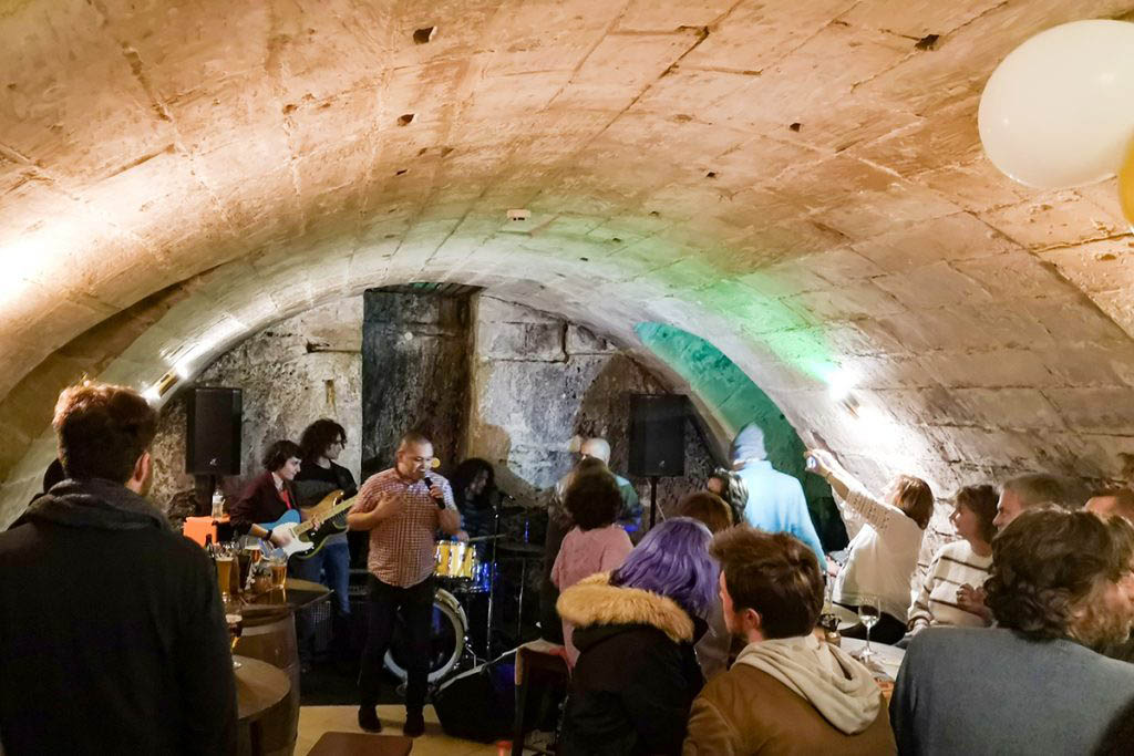 The Beer Cave in Valletta hosts live music every Friday and Saturday night