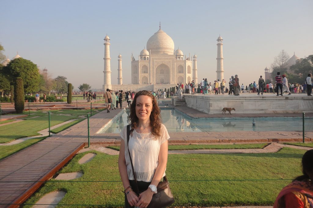 Sarah Gibbons at the Taj Mahal