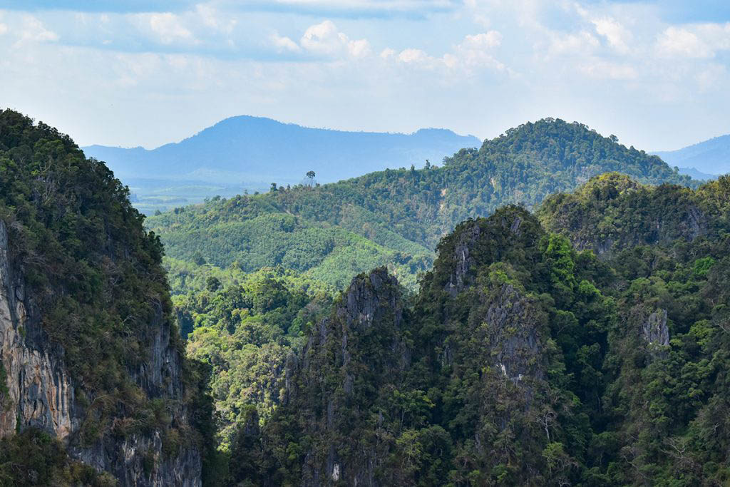 Views across the Thai countryside emerging as we neared the top of the climb